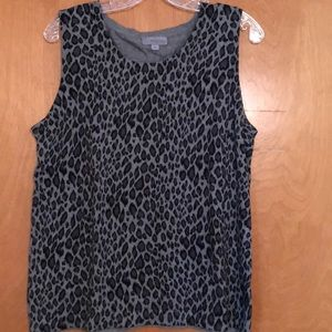 EUC Grey cheetah print sweater